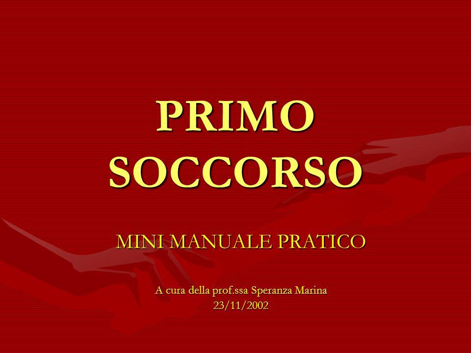 MINI MANUALE PRATICO A cura della prof.ssa Speranza Marina 23/11/2002
