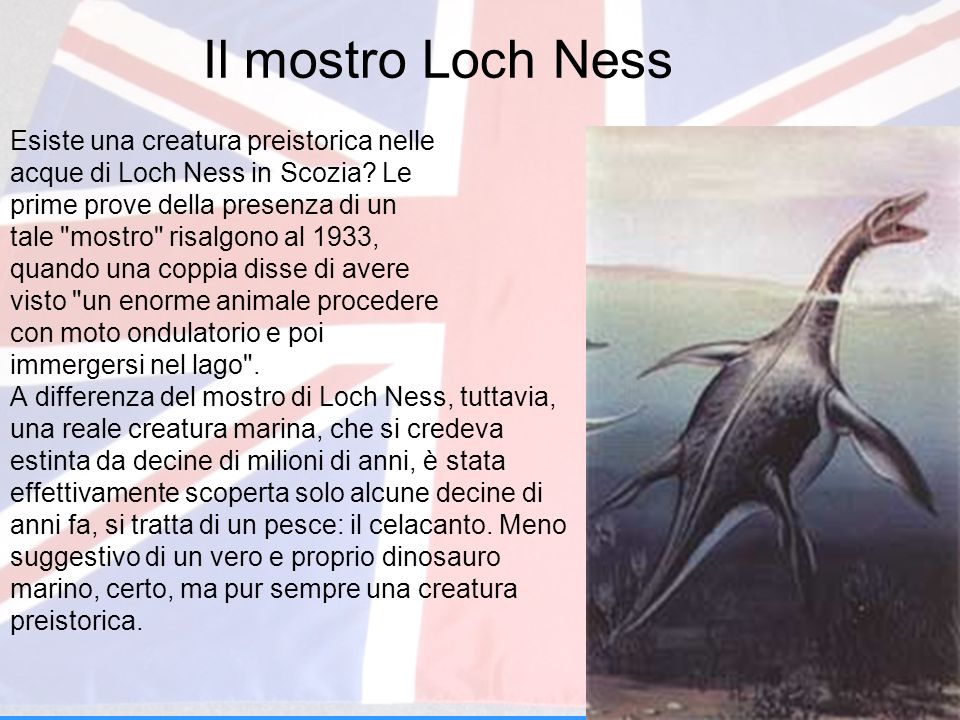 Il mostro Loch Ness Esiste una creatura preistorica nelle