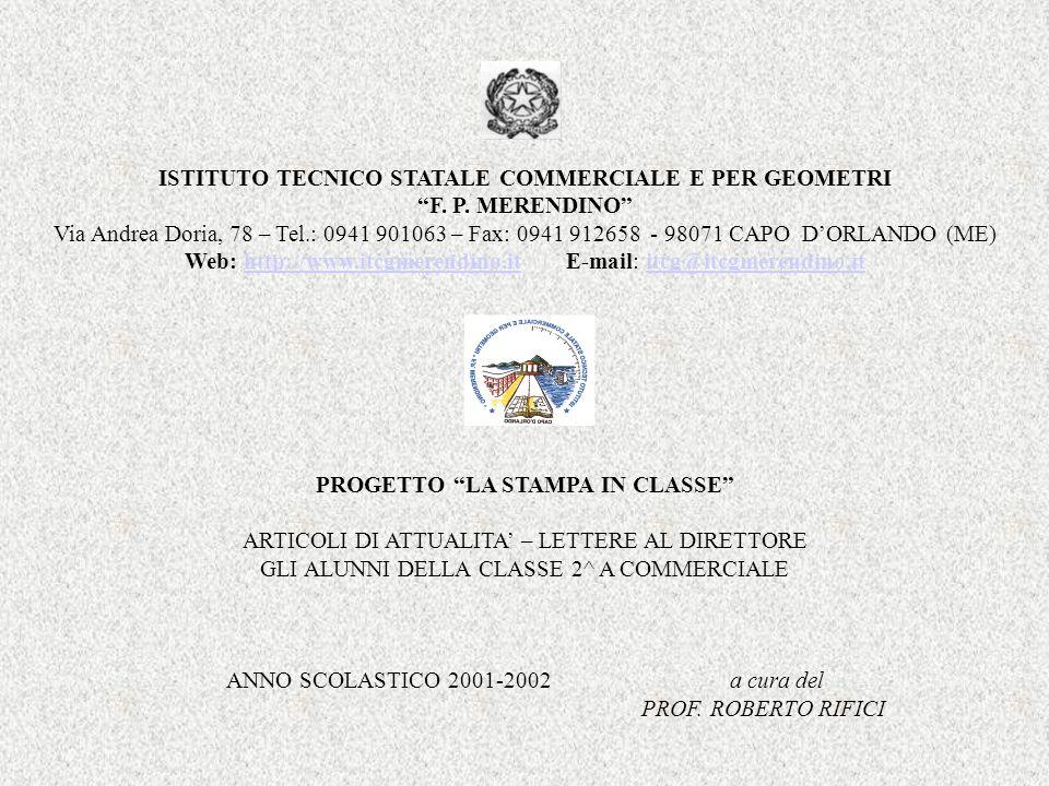 ISTITUTO TECNICO STATALE COMMERCIALE E PER GEOMETRI F. P. MERENDINO