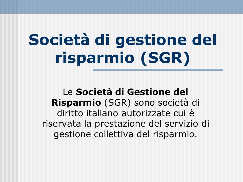 Società di gestione del risparmio (SGR)