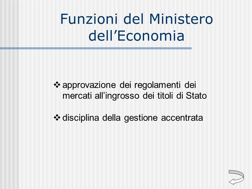 Funzioni del Ministero dell'Economia