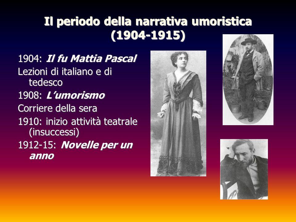 Il periodo della narrativa umoristica (1904-1915)