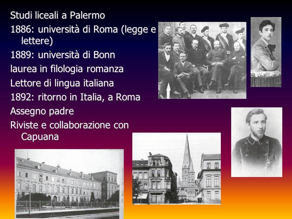 Studi liceali a Palermo