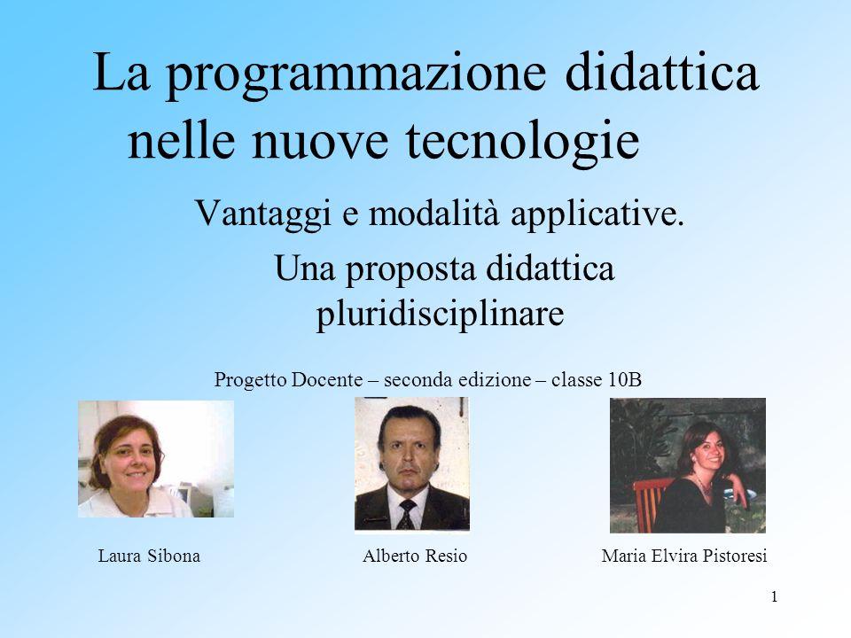 La programmazione didattica nelle nuove tecnologie