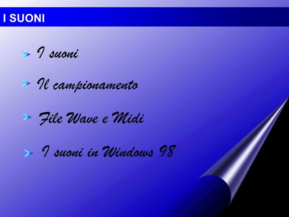 I suoni Il campionamento File Wave e Midi I suoni in Windows 98