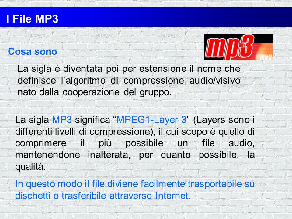 I File MP3 Cosa sono.