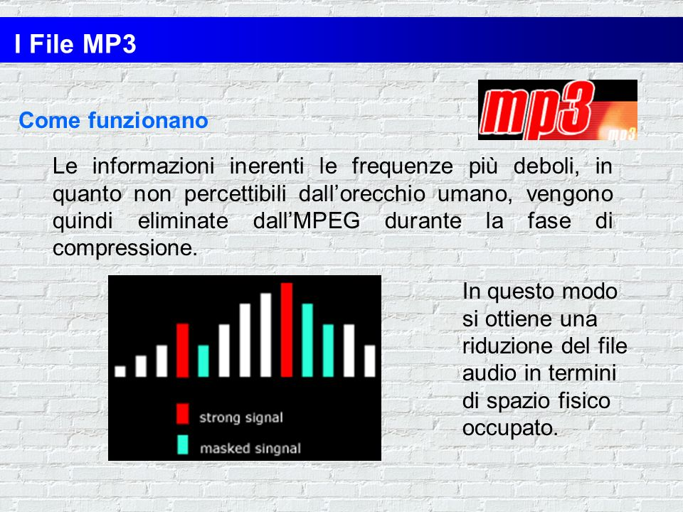 I File MP3 Come funzionano