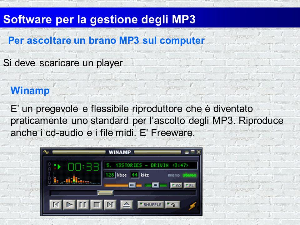 Software per la gestione degli MP3