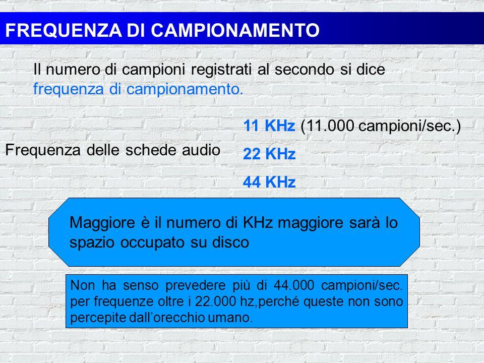FREQUENZA DI CAMPIONAMENTO