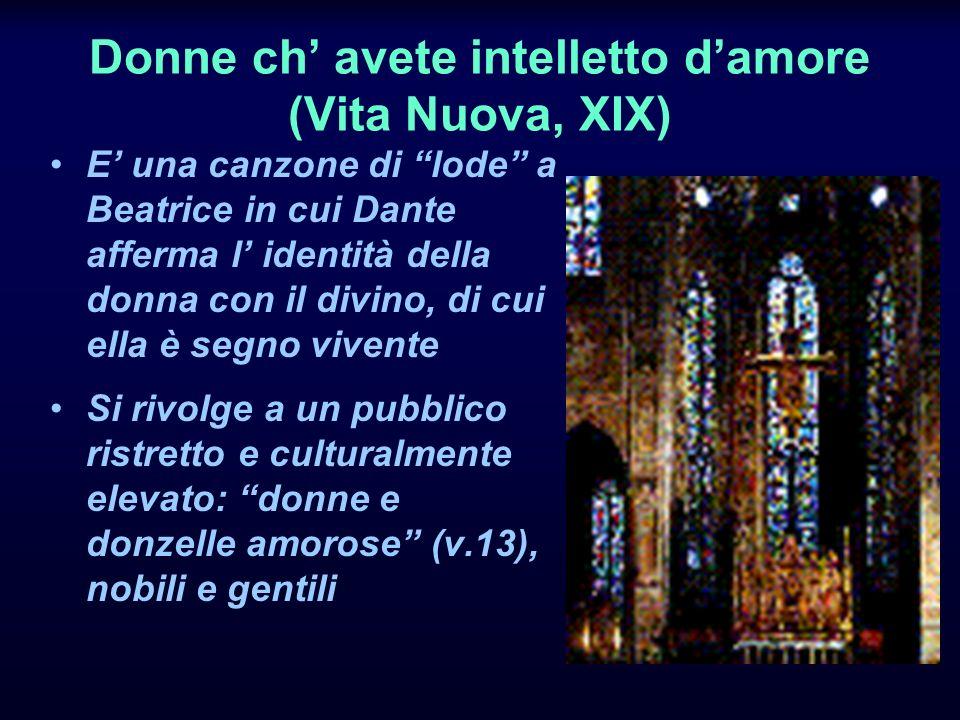 Donne ch' avete intelletto d'amore (Vita Nuova, XIX)