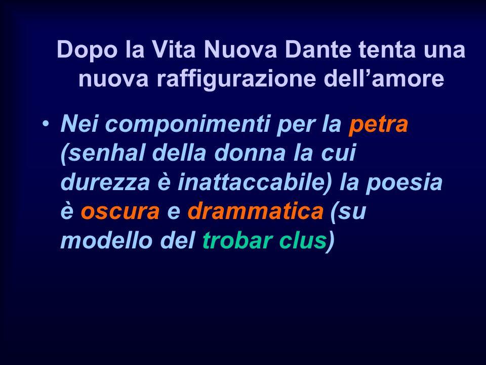Dopo la Vita Nuova Dante tenta una nuova raffigurazione dell'amore
