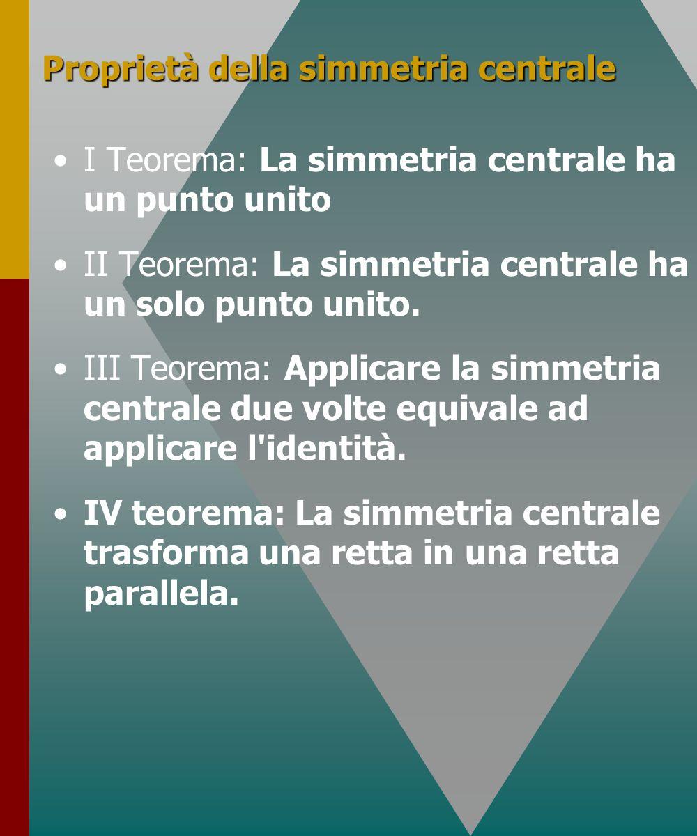 Proprietà della simmetria centrale