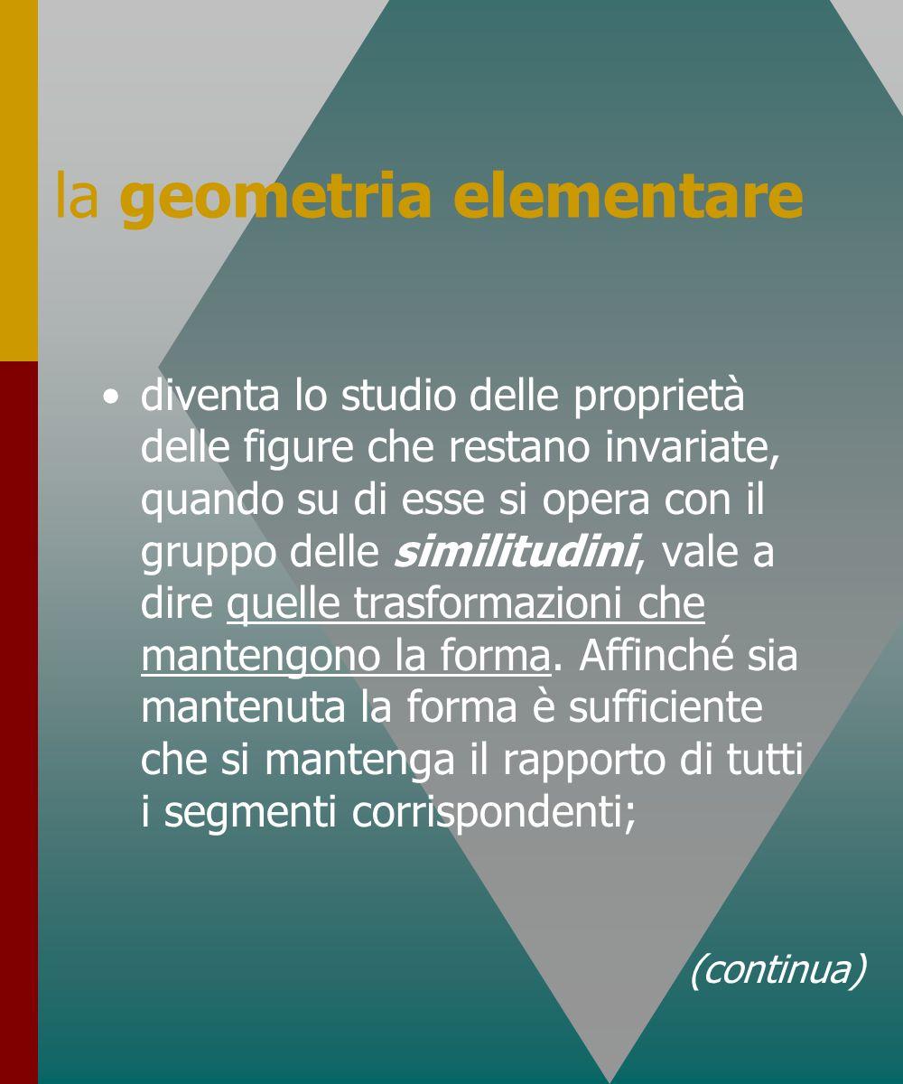la geometria elementare