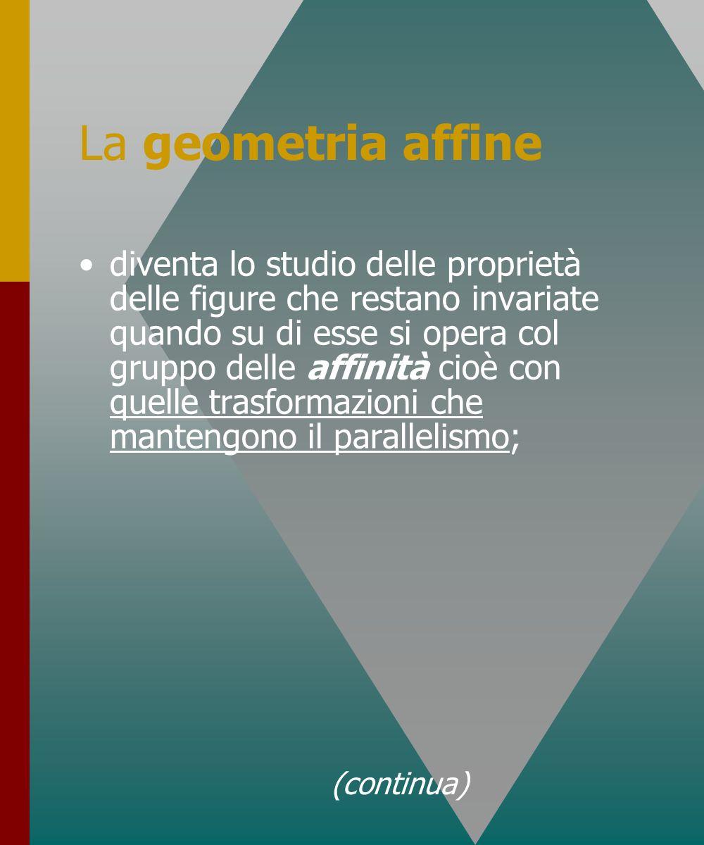 La geometria affine