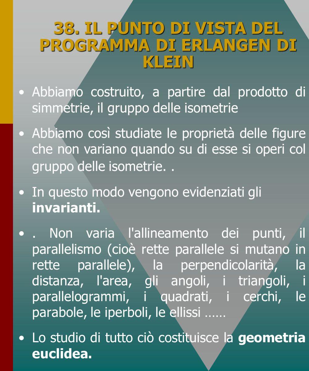 38. IL PUNTO DI VISTA DEL PROGRAMMA DI ERLANGEN DI KLEIN