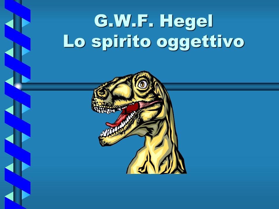 G.W.F. Hegel Lo spirito oggettivo