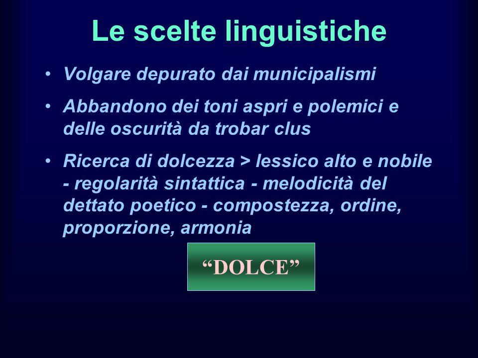 Le scelte linguistiche