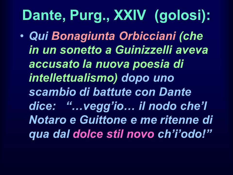 Dante, Purg., XXIV (golosi):