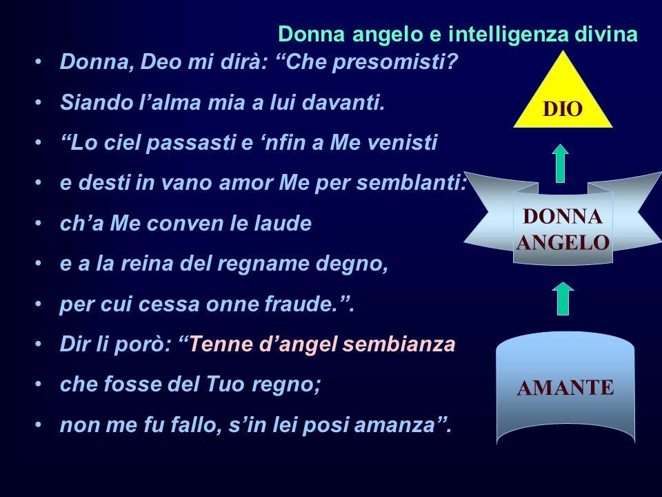 Donna angelo e intelligenza divina