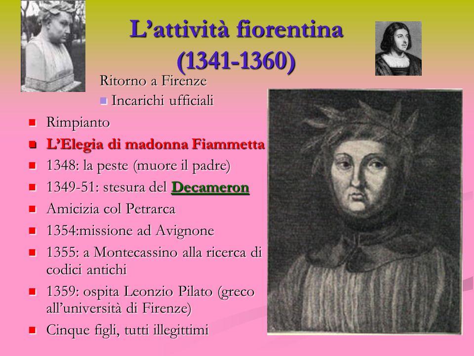 L'attività fiorentina (1341-1360)