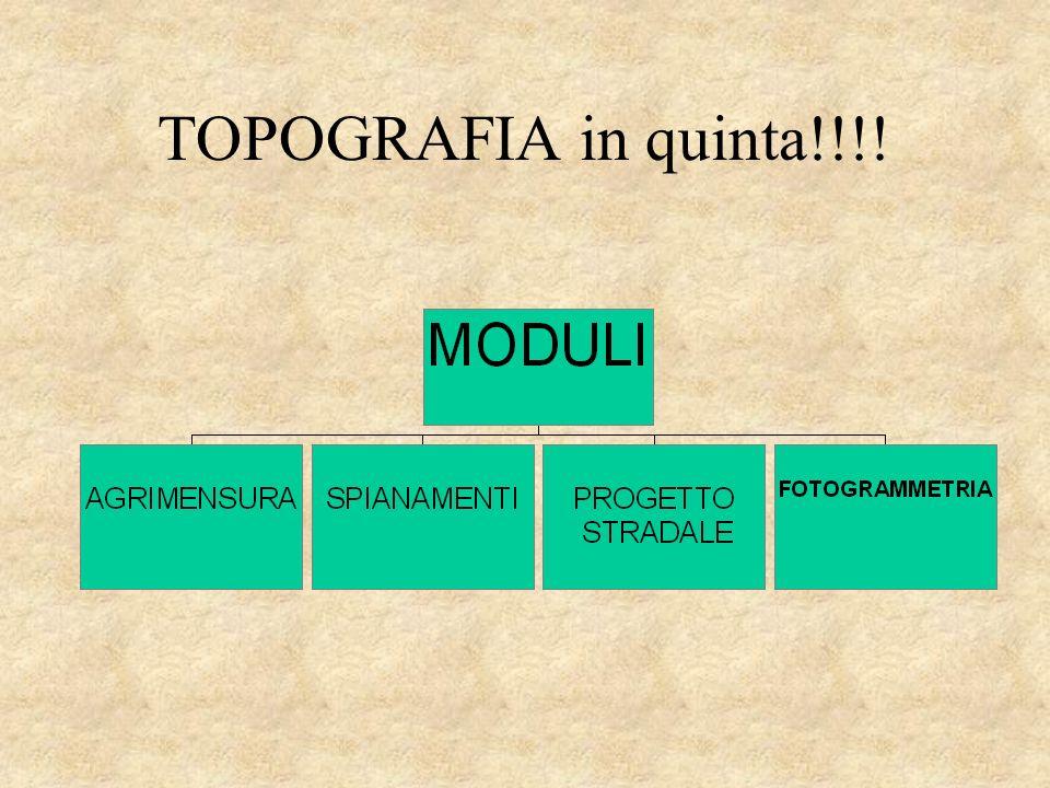 TOPOGRAFIA in quinta!!!!