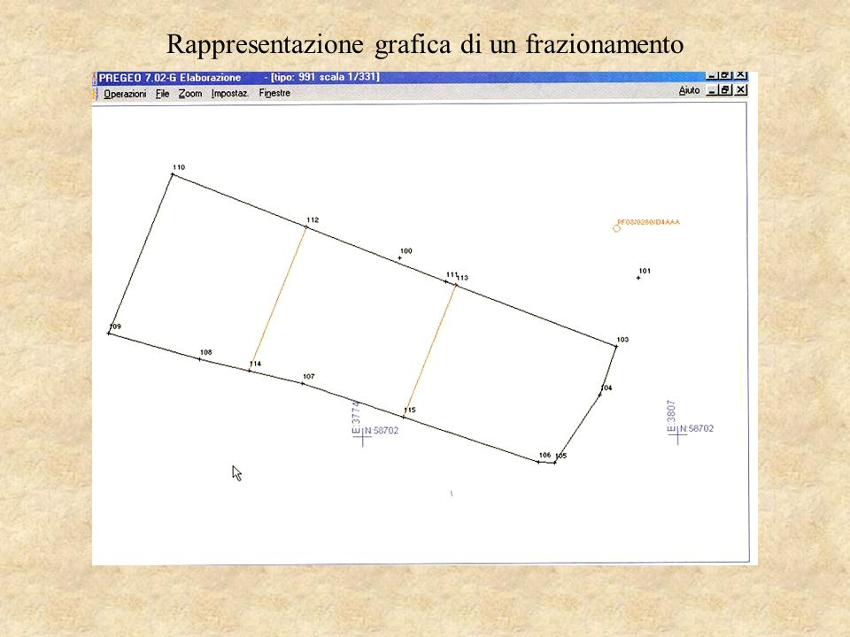 Rappresentazione grafica di un frazionamento
