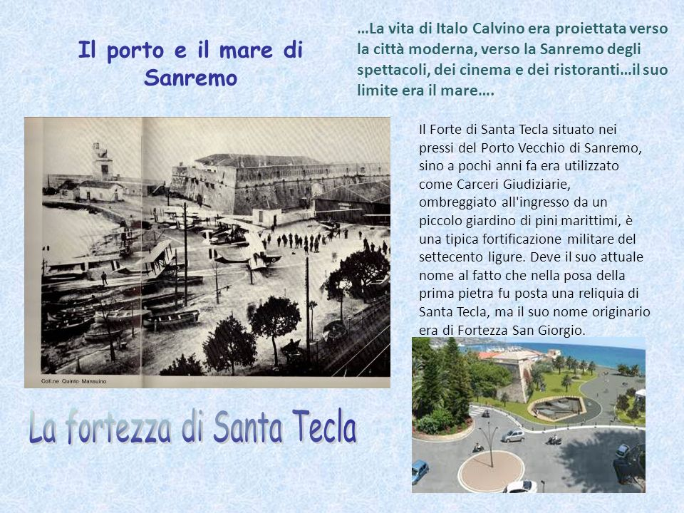 Il porto e il mare di Sanremo