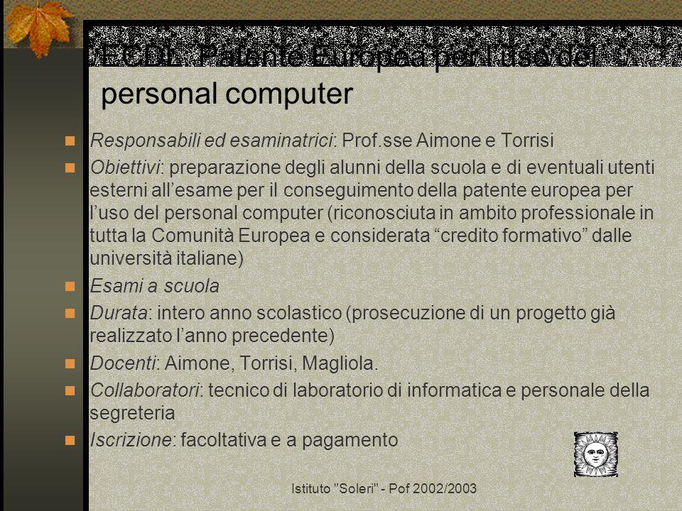 ECDL: Patente Europea per l'uso del personal computer