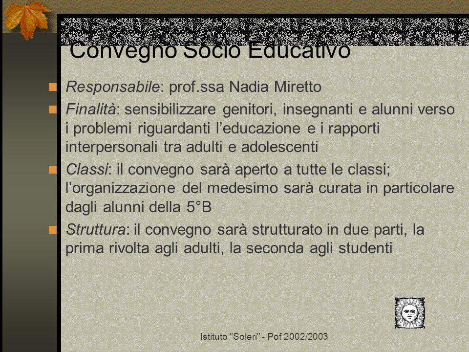 Convegno Socio Educativo