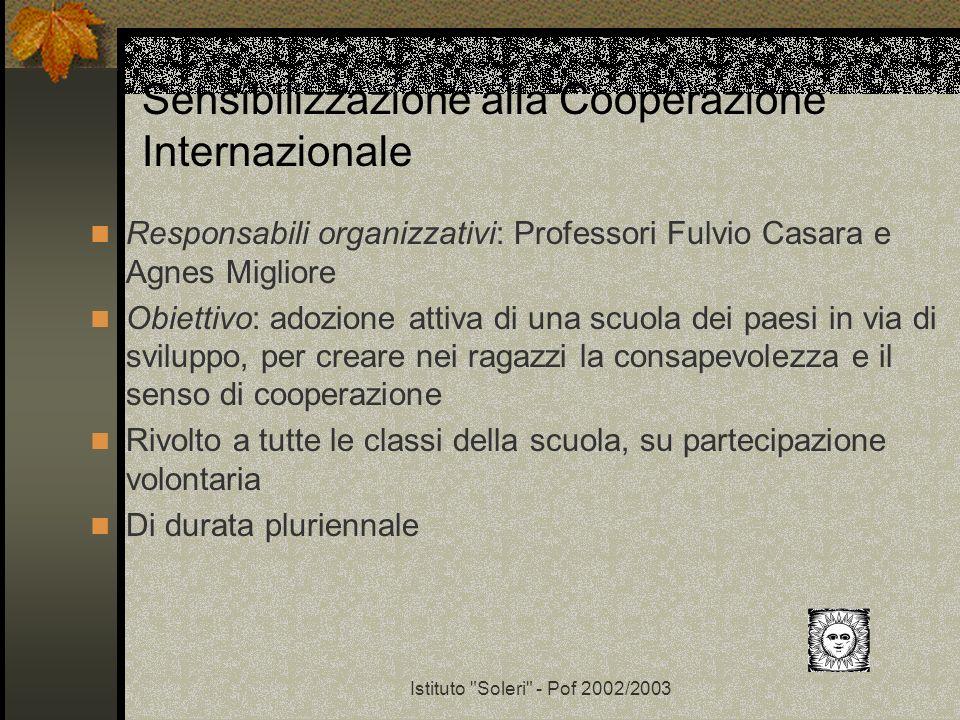 Sensibilizzazione alla Cooperazione Internazionale