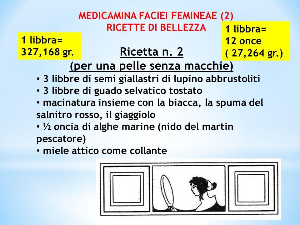 MEDICAMINA FACIEI FEMINEAE (2) (per una pelle senza macchie)