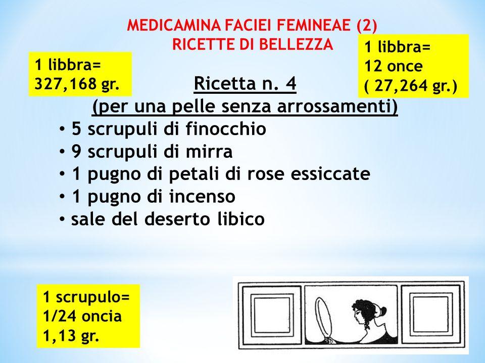 MEDICAMINA FACIEI FEMINEAE (2) (per una pelle senza arrossamenti)