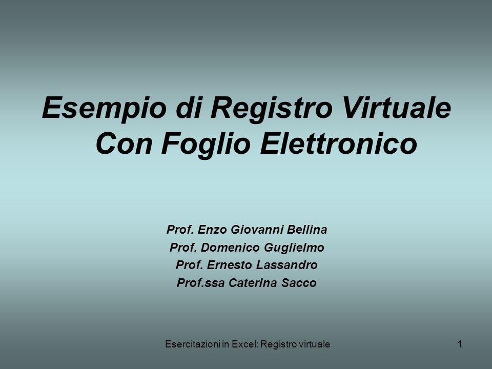 Esempio di Registro Virtuale Con Foglio Elettronico
