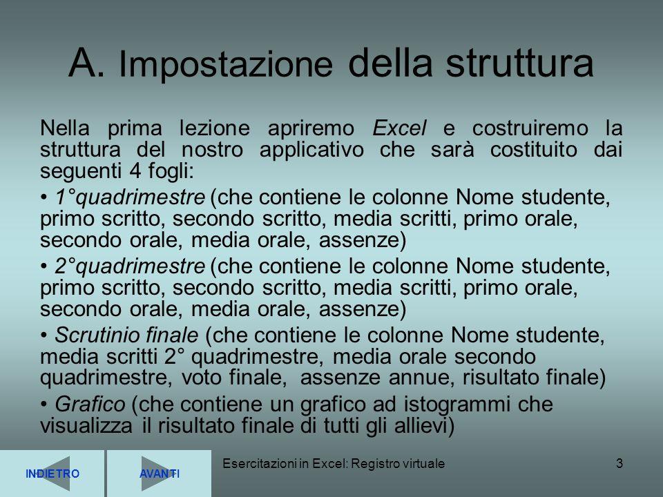 A. Impostazione della struttura