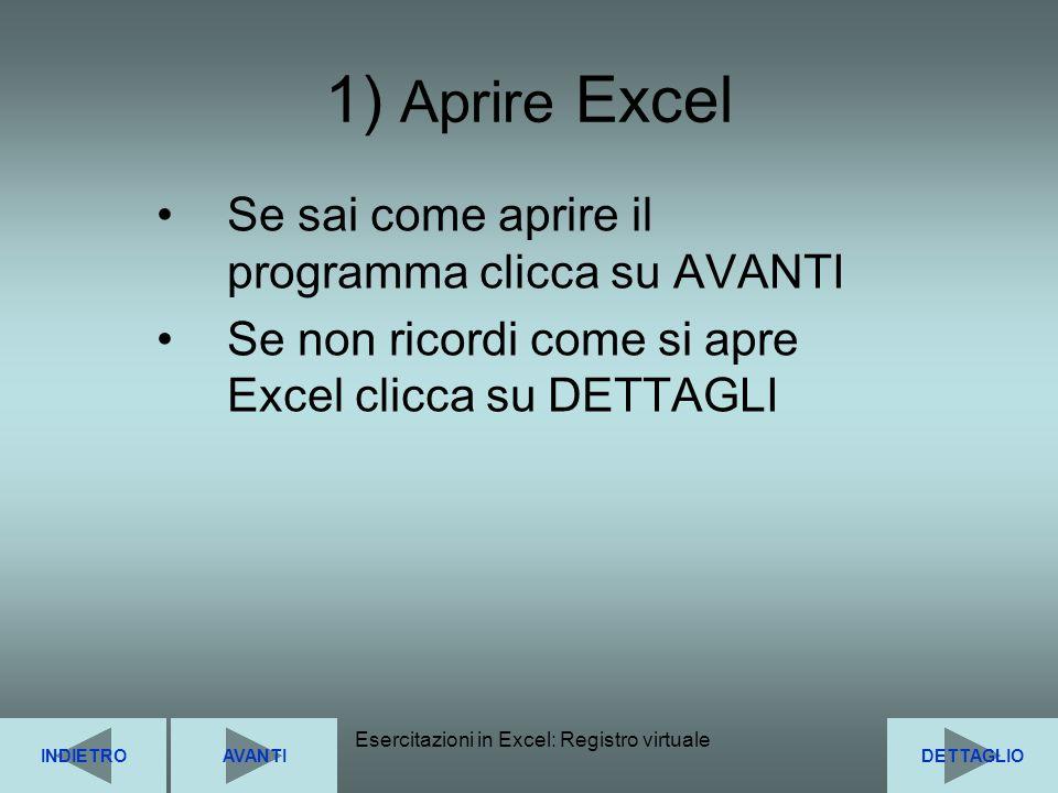Esercitazioni in Excel: Registro virtuale