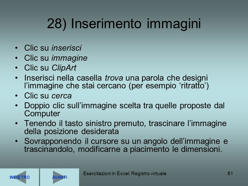 28) Inserimento immagini