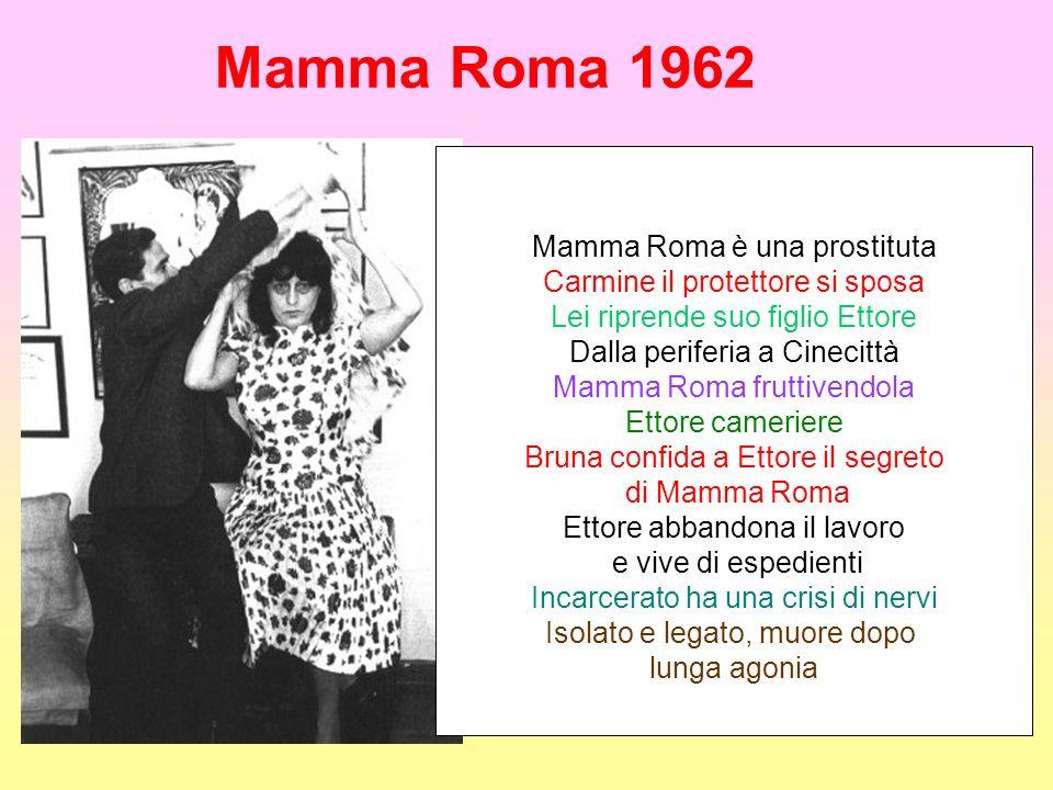 Mamma Roma 1962 Mamma Roma è una prostituta