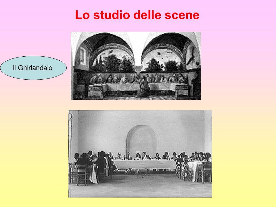 Lo studio delle scene Il Ghirlandaio