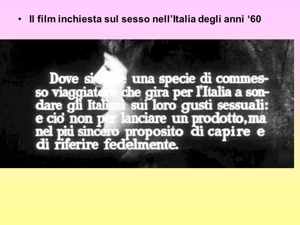 Il film inchiesta sul sesso nell'Italia degli anni '60