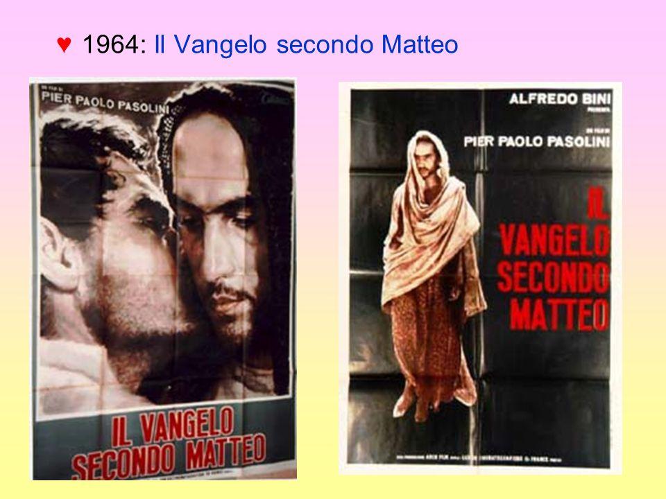 1964: Il Vangelo secondo Matteo