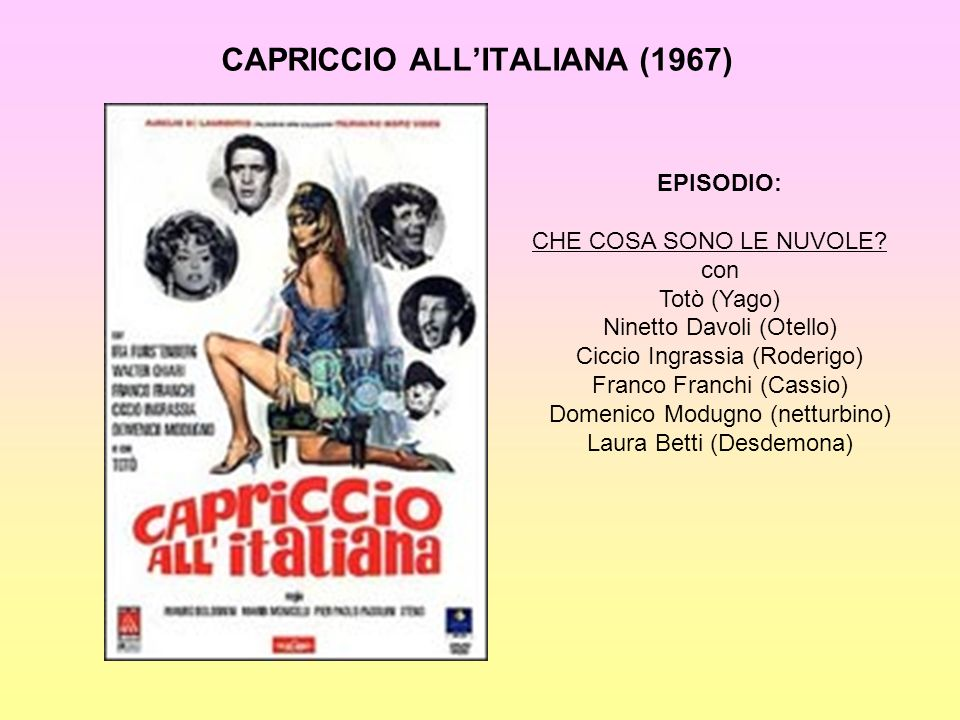 CAPRICCIO ALL'ITALIANA (1967)