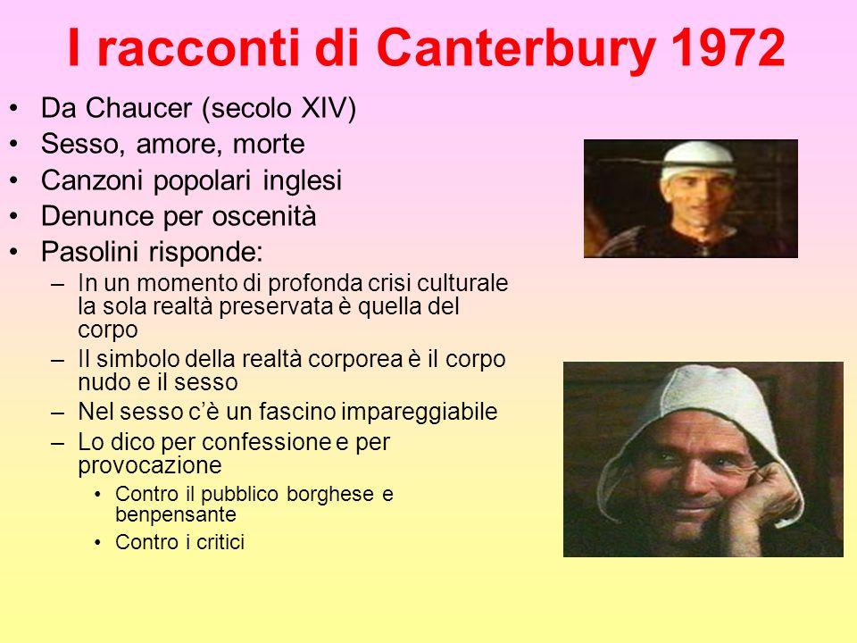 I racconti di Canterbury 1972