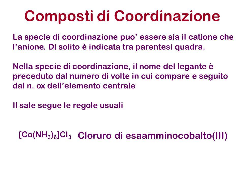 Composti di Coordinazione