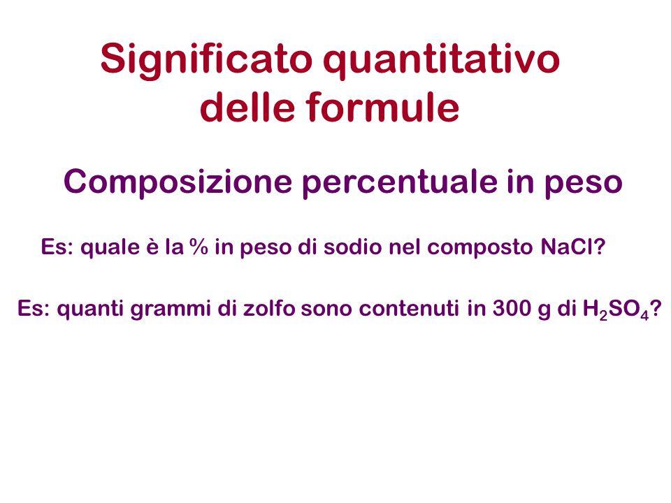 Significato quantitativo delle formule