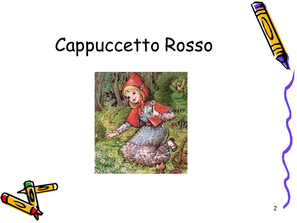 Cappuccetto Rosso 6.2.2.1. Inserire diapositiva con Layout Diapositiva solo Titolo 6.2.4.3.