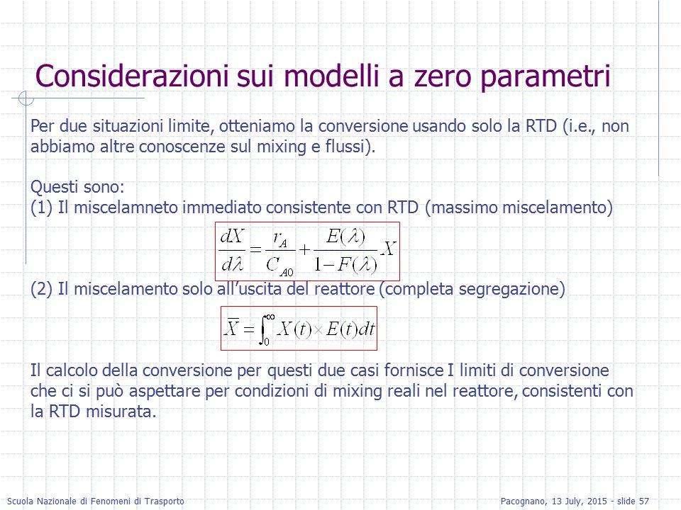 Considerazioni sui modelli a zero parametri