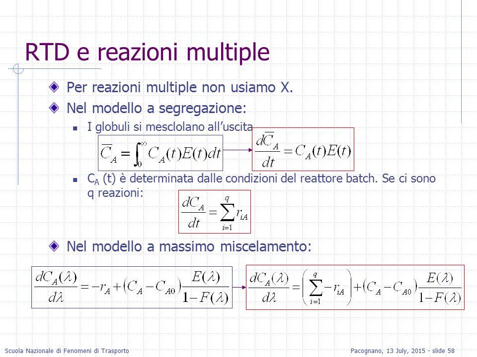 RTD e reazioni multiple