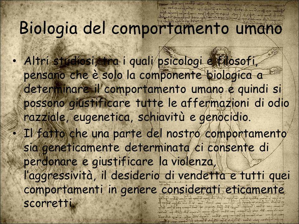 Biologia del comportamento umano