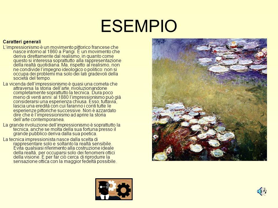 ESEMPIO Caratteri generali