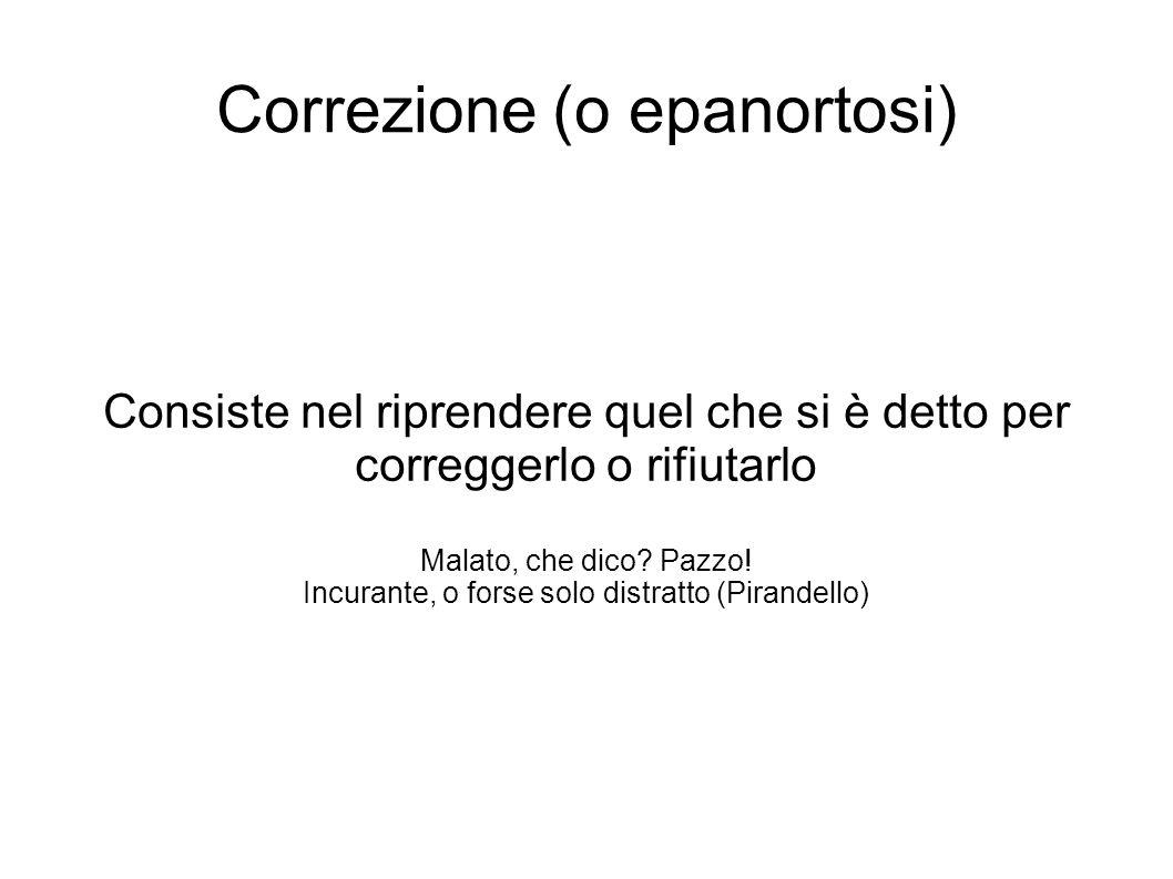 Correzione (o epanortosi)